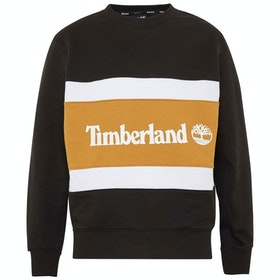 Timberland Cut & Sew Colorblock Crew Pullover - Black-wheat Boot