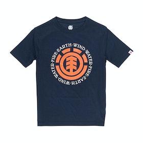 T-Shirt a Manica Corta Element Seal - Eclipse Navy