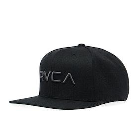 RVCA Rvca Twill Snapback II Cap - Black/charcoal