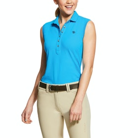 Ariat Prix 2.0 Sleeveless Ladies Polo Shirt - Nautilus