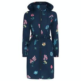 Cath Kidston Twilight Sprig Long Women's Waterproof Jacket - Navy