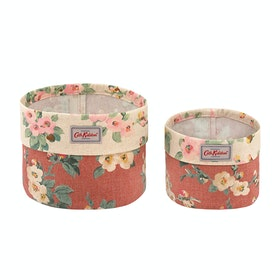Cath Kidston Set Of Two Baskets Homeware Accessory - Dusty Pink
