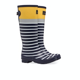 Stivali di Gomma Donna Joules Printed - Navy Engineered Stripe