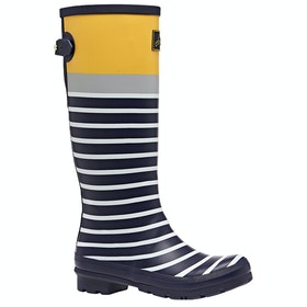 Joules Printed Ladies Wellington Boots - Navy Engineered Stripe