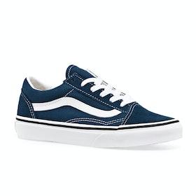 Chaussures Enfant Vans Old Skool Youth - Gibraltar Sea True White