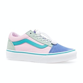 Chaussures Enfant Vans Old Skool Youth - Toggle Lace Colour Block Ultramarine