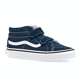 Chaussures Enfant Vans Sk8 Mid Reissue V - Gibraltar Sea True White