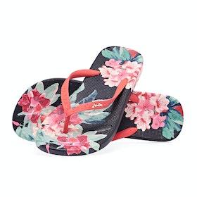 Joules Flip Flops Dame Sandaler - Navy Floral