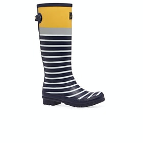 Joules Printed Womens Wellies - Navy Engineered Stripe