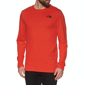 North Face Easy , Langermet t-skjorte - Fiery Red
