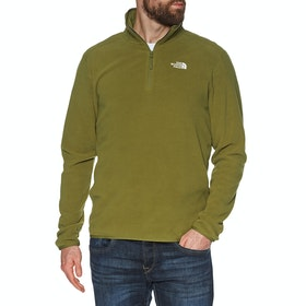 North Face 100 Glacier Quarter Zip , Fleece - Fir Green