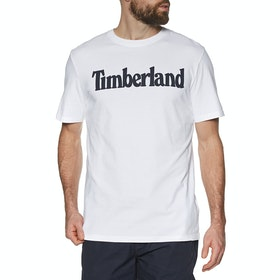 T-Shirt a Manica Corta Timberland Kennebec River Brand Linear - White