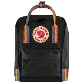 Fjallraven Kånken Rainbow Mini Backpack - Black Rainbow Pattern