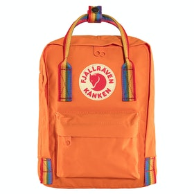 Fjallraven Kånken Rainbow Mini Backpack - Burnt Orange Rainbow Pattern