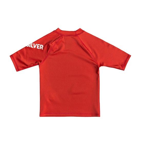 Quiksilver All Time Short Sleeve Boys Rash Vest