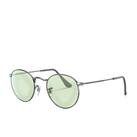 Ray-Ban Round Metal Sunglasses - Gunmetal~light Green