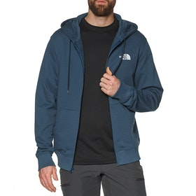 North Face Open Gate Light Zip Hoody - Blue Wing Teal TNF White