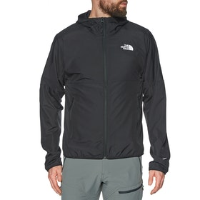 North Face Flyweight Hooded Windproof Jacket - TNF Black