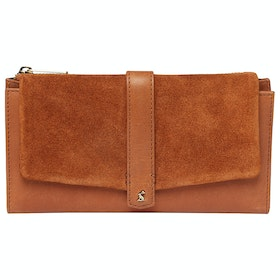 Joules Aycliffe Suede Purse - Tan