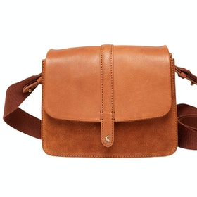 Joules Wimbourne Suede Ladies Saddle Bag - Tan