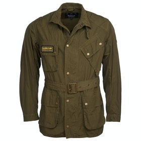 Barbour International Summer Wash A7 Wax Jacket - Green