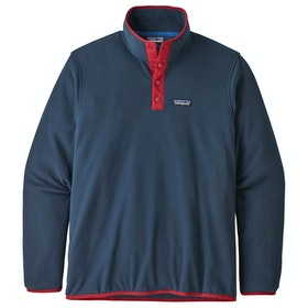 Patagonia Micro D Snap T Fleece - New Navy classic Red