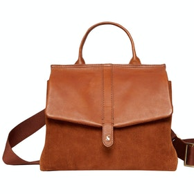 Joules Molton Suede ハンドバッグ - Tan