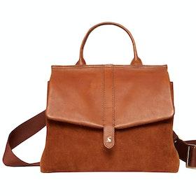 Joules Molton Suede Handbag - Tan