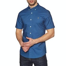 Camisa de manga corta Hombre Farah Brewer Slim - Dusky Blue