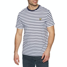 Lyle & Scott Vintage Breton Stripe Kurzarm-T-Shirt - Navy White