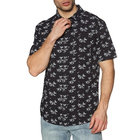 RVCA Easy Palms Short Sleeve Shirt - Black