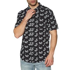 Chemise à Manche Courte RVCA Easy Palms - Black