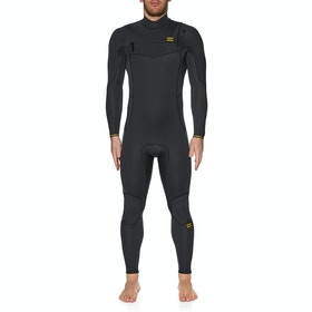 Billabong 4/3mm Furnace Absolute Chest Zip Wetsuit - Antique Black
