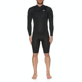 Billabong 2mm Absolute Chest Zip Long Sleeve Shorty Wetsuit - Black