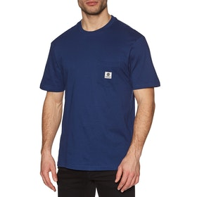 Element Basic Pocket Label Short Sleeve T-Shirt - Blue Depths
