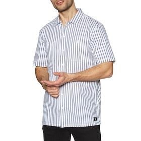 Vans Rowan Workwear Stripe Short Sleeve Shirt - White Dress Blues