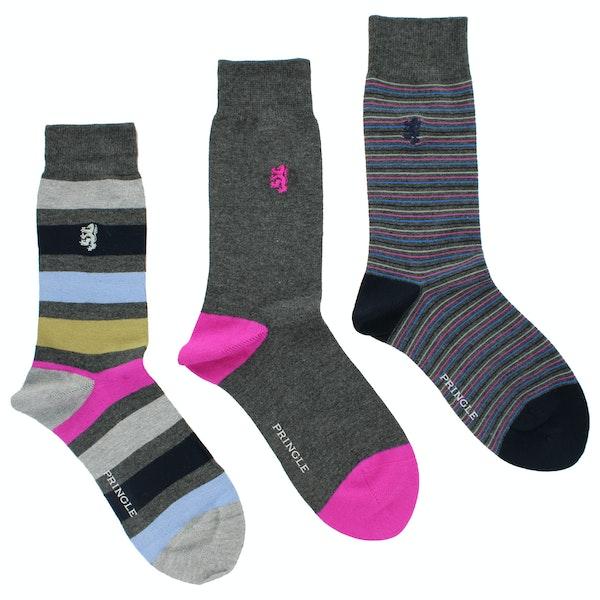 Pringle 3 Pack Jacquard Men's Fashion Socks