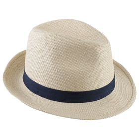 Barbour Emblem Trilby Men's Hat - Natural