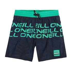 Shorts de natación Boys O'Neill Stacked - Blue Aop Green