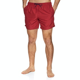 Farah Colbert Plain Men's Swim Shorts - Red Chilli