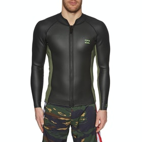 Billabong 1mm Revolution Tyler Warren Front Zip Wetsuit Jacket - Military