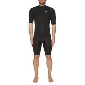 Billabong 2mm Absolute Chest Zip Shorty Wetsuit - Black