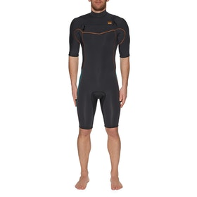 Billabong 2mm Revolution Chest Zip Shorty Wetsuit - Antique Black
