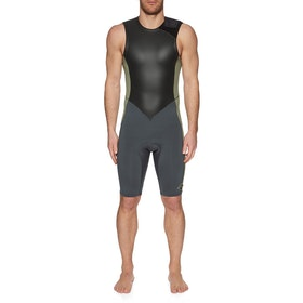 Billabong 2mm Revolution Tyler Warren Short John Wetsuit - Military