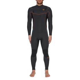 Billabong 3/2mm Furnace Revolution Chest Zip Wetsuit - Antique Black