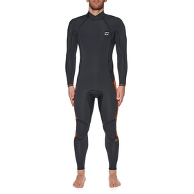 Billabong 4/3 Furnace Absolute Back Zip Wetsuit - Black Sands