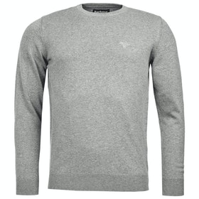 Barbour Pima Cotton Crew Neck Mens Sweater - Grey Marl