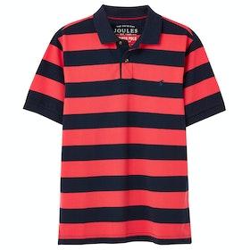 Joules Filbert Poloshirt - Pink Navy Stripe