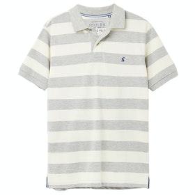 Joules Filbert Poloshirt - Grey Marl Cream Stripe
