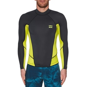 Billabong 2mm Absolute Comp Long Sleeve Wetsuit Jacket - Lime